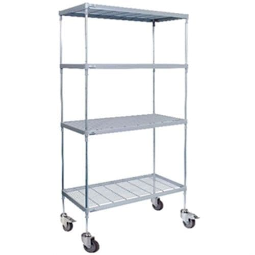 Craven 4 Tier Nylon Coated Wire Shelving With Pads 1825x 875x 491mm - CE138