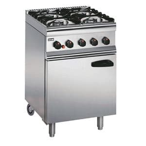 Lincat Silverlink 600 4 Burner LPG Gas Oven with Rear Castors