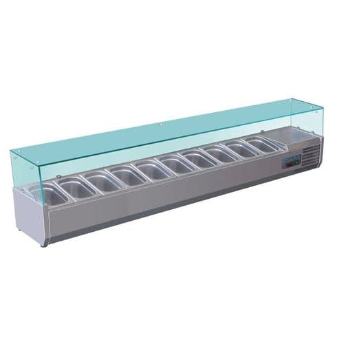 Polar Refrigerated Counter Top Servery Prep Unit 10x 1/4GN - G611