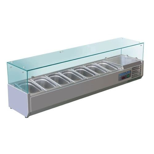 Polar Refrigerated Counter Top Servery Prep Unit 7x 1/4GN - G609