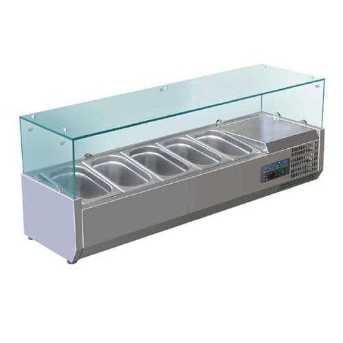 Polar Refrigerated Countertop Servery Prep Unit 5x 1/4GN - G608