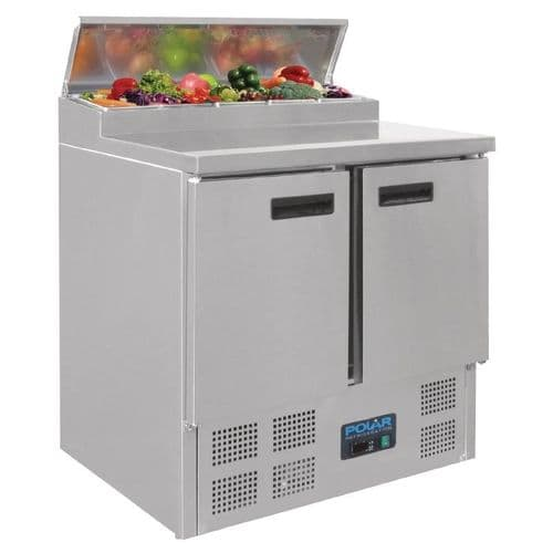 Polar Refrigerated Pizza and Salad Prep Counter 254Ltr - G604