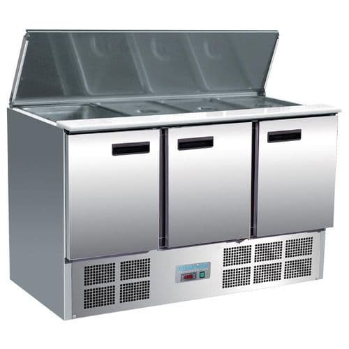 Polar Refrigerated Saladette Counter 368Ltr - G607