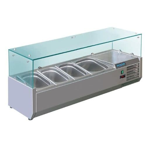 Polar Refrigerated Servery Topper 4 GN - GD875