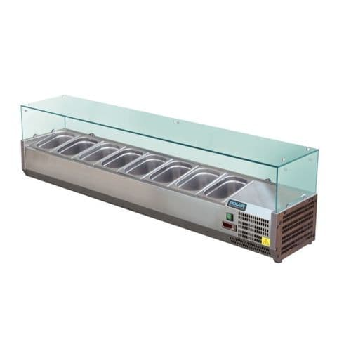 Polar Refrigerated Servery Topper 8x 1/3GN - GD877