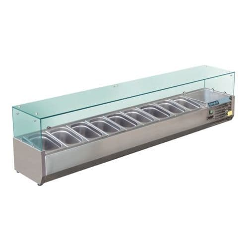 Polar Refrigerated Servery Topper 9x 1/3GN - GD878