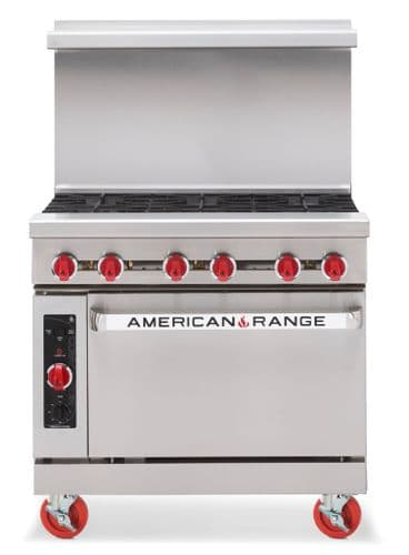 American Range Heavy Duty 6 Gas Burner Range with Oven - AR6
