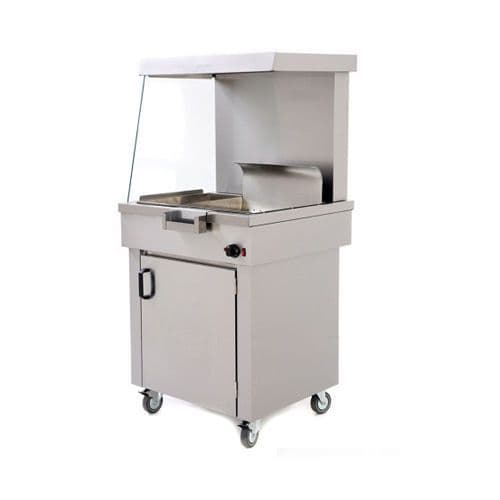 Archway CS2/E Heated Electric Chip Scuttle With Storage Cupboard - CS2/E