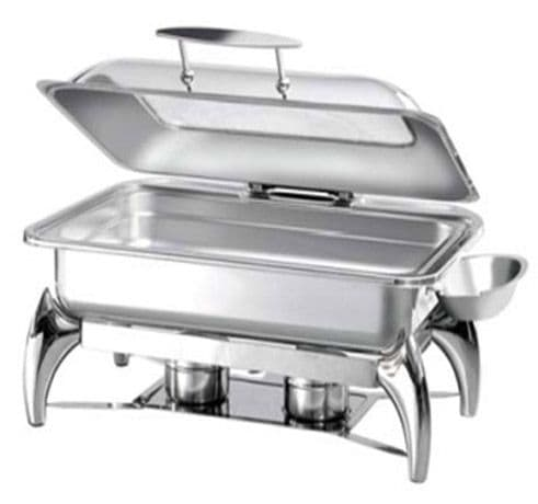 Atosa Chafing Dish - 1/1 Pan with Glass Lid & Spirit Stove - S62593