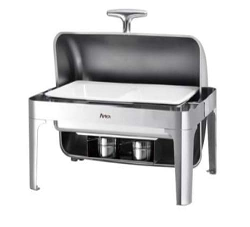 Atosa Oblong Chafing Dish - With Roll Lid & Spirit Stove - AT61363-1