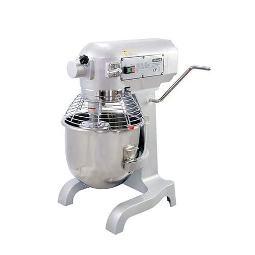 Blizzard 1100W Silver 20 Litre Planetary Mixer - FMX20