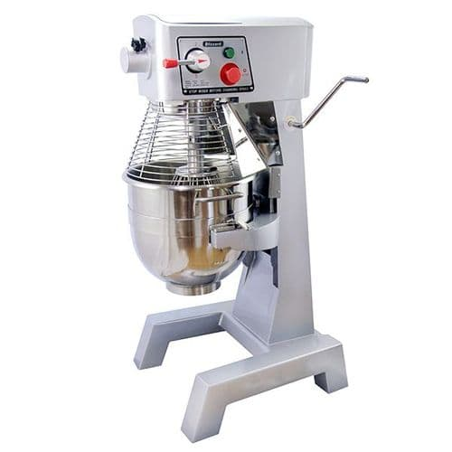 Blizzard 1500W Silver 30 Litre Planetary Mixer - FMX30