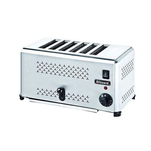 Blizzard Stainless Steel 6 Slot Toaster 2500W - B6ST
