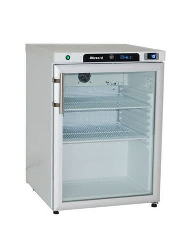 Blizzard Under Counter SS Refrigerator with Glass Door - HG200SS