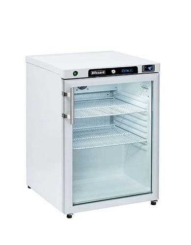 Blizzard Under Counter White Refrigerator with Glass Door - HG200WH