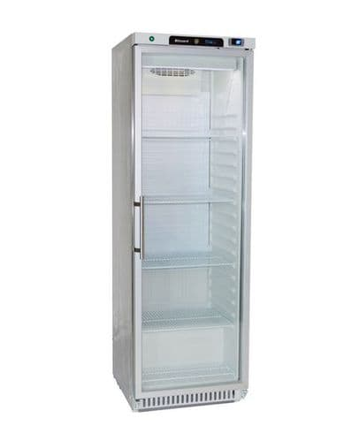 Blizzard Upright SS Refrigerator with Glass Door - HG400SS