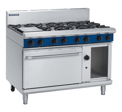 Blue Seal Evolution Series G508D - 1200mm 8 Burner Gas Range Static Oven