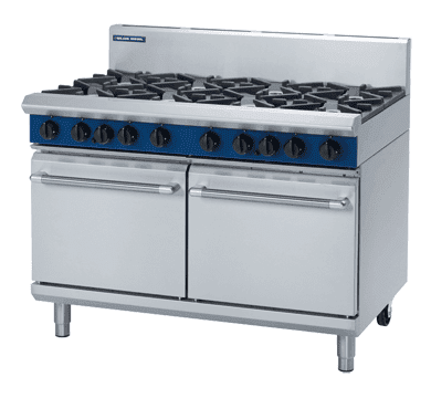 Blue Seal Evolution Series G528D - 1200mm 8 Burner Gas Range Double Static Oven