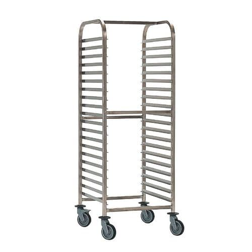 Bourgeat Double Gastronorm Racking Trolley 15 Shelves - P061