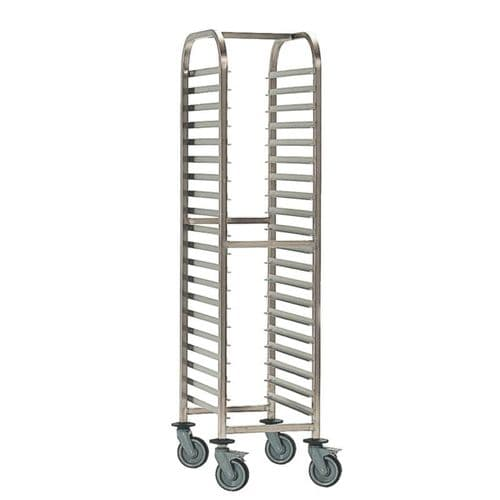 Bourgeat Full Gastronorm Racking Trolley 20 Shelves - P073