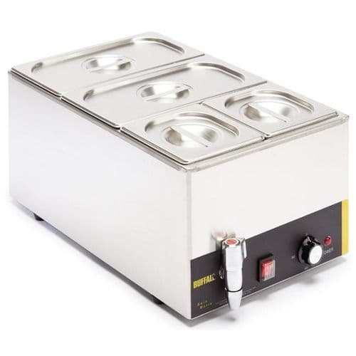 Buffalo Bain Marie with Tap and Pans - S047