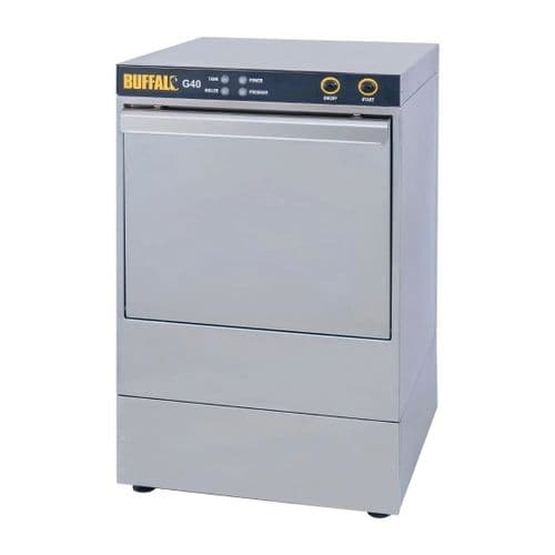 Buffalo G40 Undercounter Glasswasher with Drain Pump 400x400mm Baskets - DW467