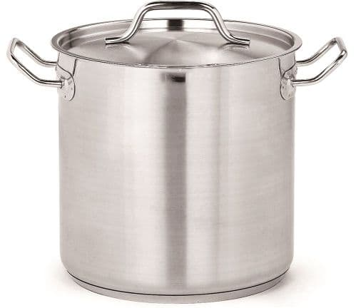 Combisteel Stainless Steel Deep Stock Pot With Lid 6.3 Litre - 7501.0005