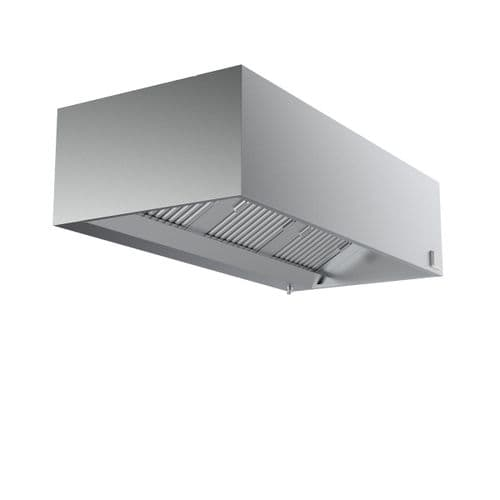 Combisteel Stainless Steel Wall-Mounted Extraction Hood Box Complete Unit 1600mm Wide - 7333.0770