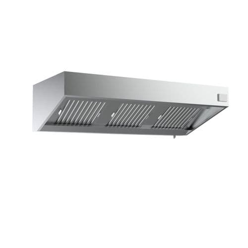 Combisteel Stainless Steel Wall-Mounted Extraction Hood Complete Unit 2400mm Wide - 7333.0750