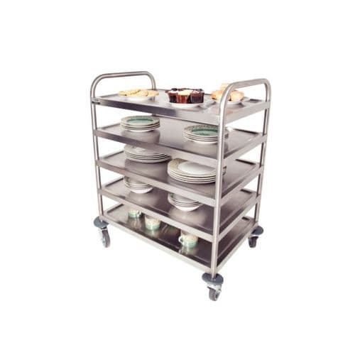 Craven 5 Level General Purpose And Cleaning Trolley With Brakes - DM341