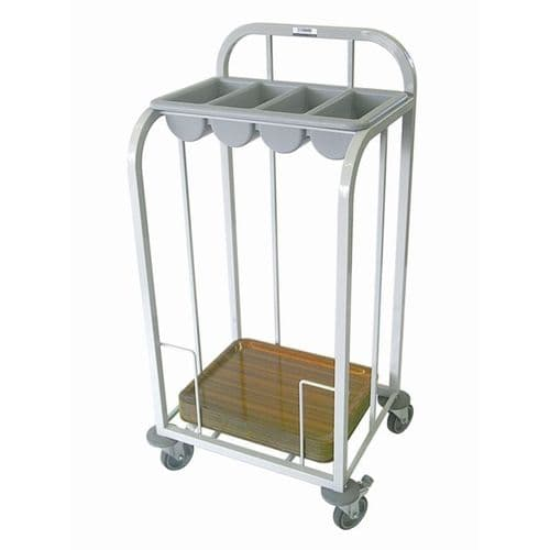 Craven Single Tier Cutlery & Tray Dispense Trolley - GG138