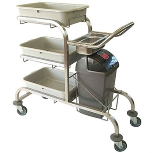 Craven Three Tier Epoxy Coated Bussing Trolley - DL454