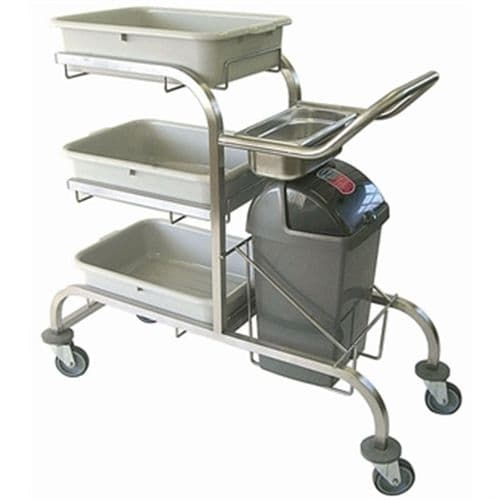Craven Three Tier Stainless Steel Bussing Trolley - DL455