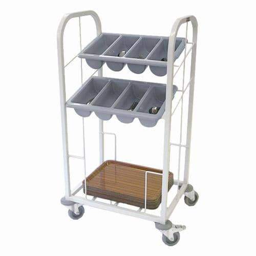 Craven Two Tier Cutlery & Tray Dispense Trolley - GG139