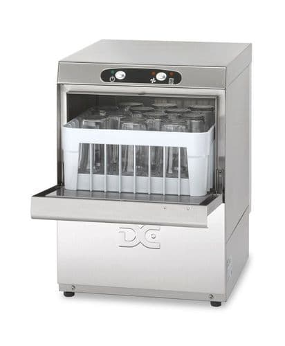 DC Economy Range EG35D Glasswasher with Drain Pump  350mm Rack 12 Pint Capacity