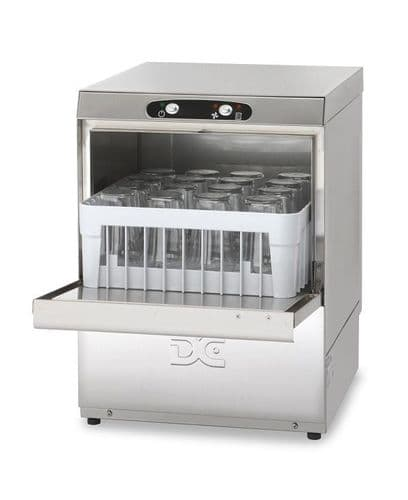 DC Economy Range EG40D Glasswasher with Drain Pump  400mm Rack 16 Pint Capacity
