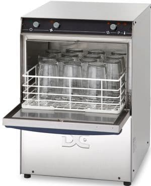DC Standard Range SG35D Glasswasher with Drain Pump  350mm Rack 14 Pint Capacity