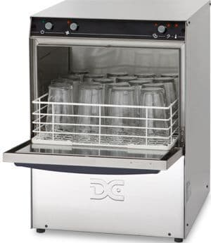 DC Standard Range SG40D Glasswasher with Drain Pump  400mm Rack 18 Pint Capacity