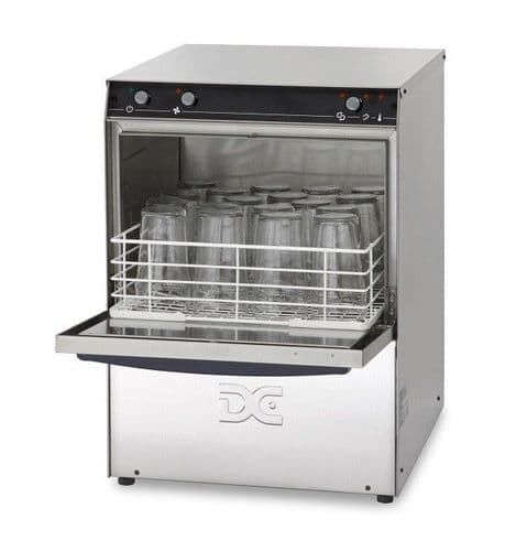 DC Standard Range SGP40IS Tall Glasswasher with Integral Softener  400mm Rack 18 Pint Capacity