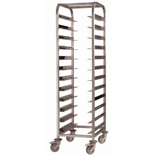 EAIS Stainless Steel Clearing Trolley 12 Shelves - DP292