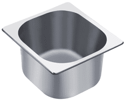 Empire 1/6 Gastronorm Pan Stainless Steel 150mm Deep