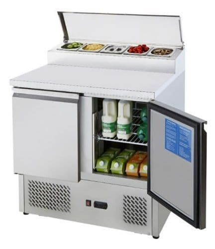 Empire Stainless Steel Two Door Open Top Pizza Prep Counter - PS200