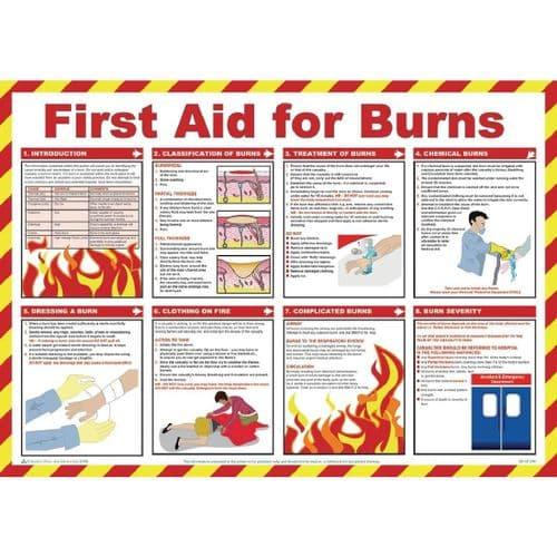 First Aid For Burns Poster - L419