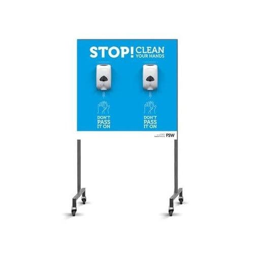 FSW Mobile Sanitiser Station 2 Dispenser Automatic - HEF336