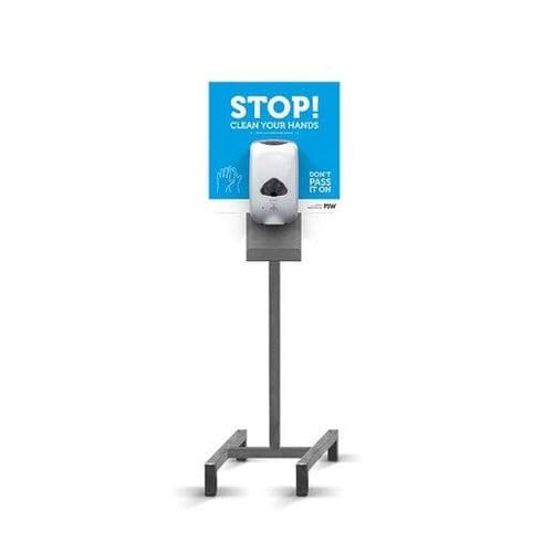FSW Single Free-Standing Sanitiser Station Automatic - HEF331