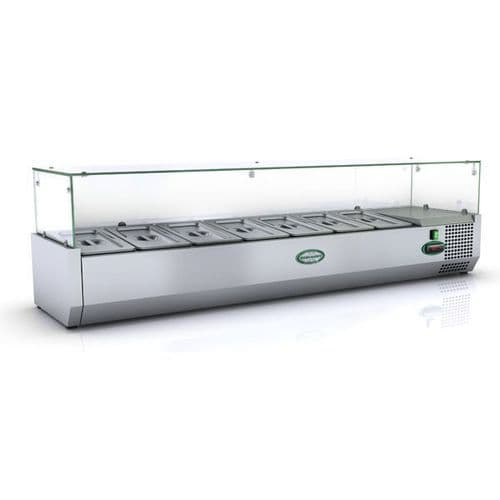 Genfrost - GRX150/13 - 6 X 1/3Gn Glass Top Gn Topping Rail