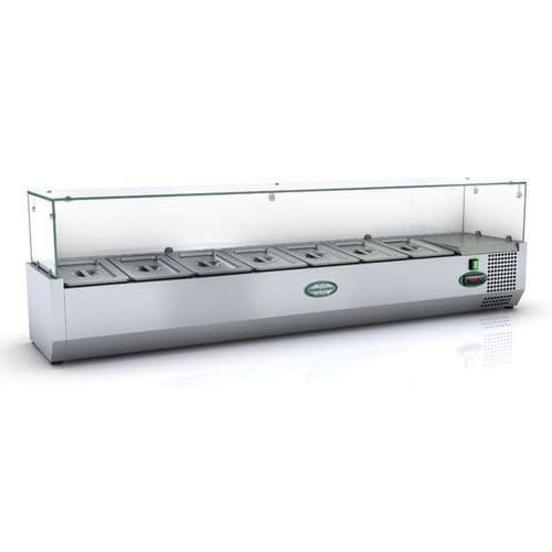 Genfrost - GRX150/14 - 7 X 1/4Gn Glass Top Gn Topping Rail