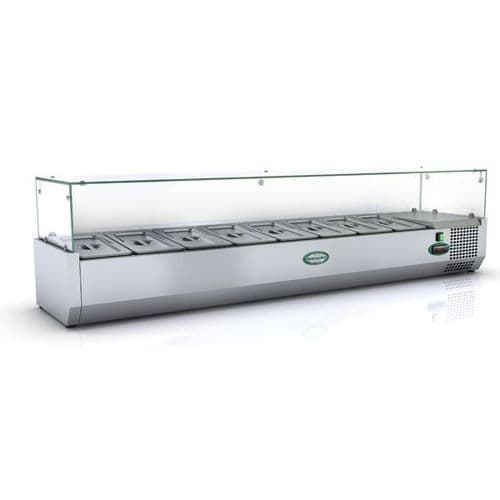 Genfrost - GRX160/13 - 7 X 1/3Gn Glass Top Gn Topping Rail