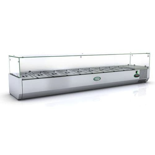Genfrost - GRX180/13 - 8 X 1/3Gn Glass Top Gn Topping Rail