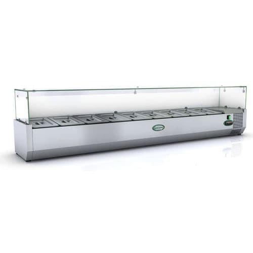 Genfrost - GRX180/14 - 9 X 1/4Gn Glass Top Gn Topping Rail